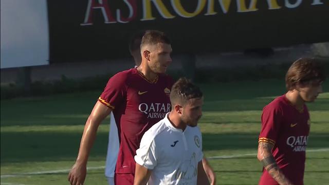 Gli highlights dell'amichevole tra Roma e Trastevere: doppietta di Dzeko, debutto di Mancini