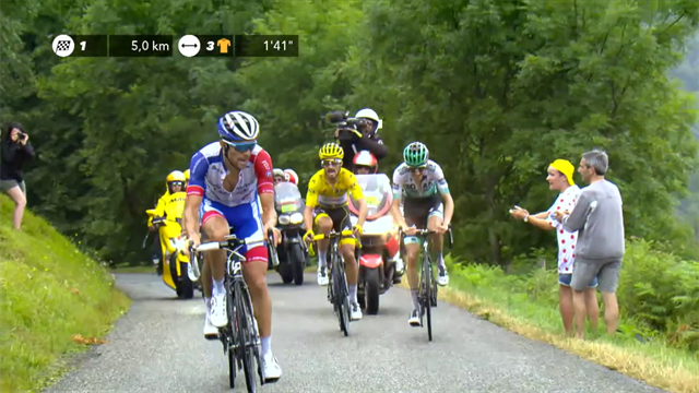 WATCH: Yates wins as stuttering Alaphilippe saves yellow