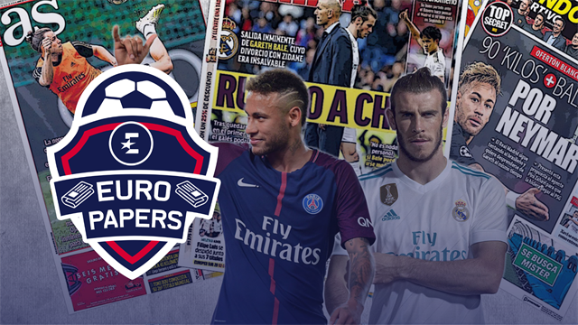 Euro Papers: Real Madrid using Gareth Bale as bait to get Neymar