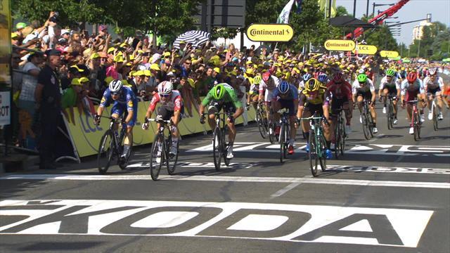 Das Sprint-Finish der 16. Etappe: Sagan in Nîmes geschlagen