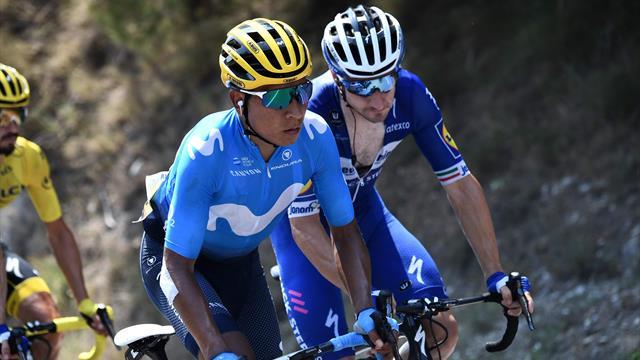 Quintana med maktdemonstrasjon på den bratte alpeetappen