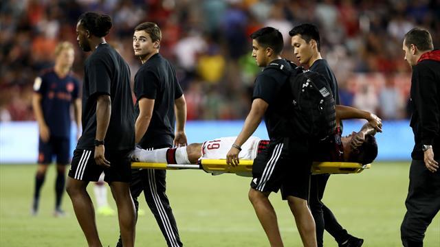 Milan, infortunio Theo Hernandez: è lesione ai legamenti della caviglia destra