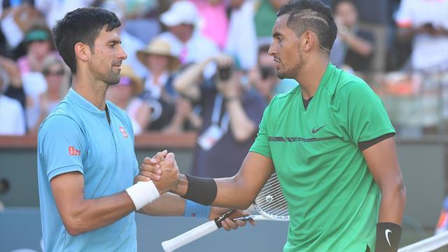 """Un T-shirt """"Novak"""" présenté à Kyrgios ? Un coup de feutre et cela devient un carnage"""
