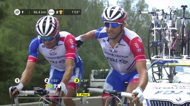 Пино получил травму на 19-м этапе, сошел с дистанции и расплакался