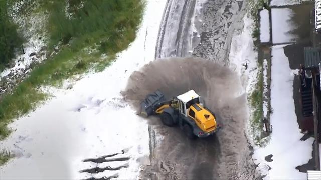 Hagel-Sturm, Fahrer in Aufruhr: Das kuriose Ende der 19. Etappe