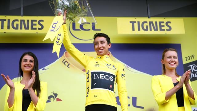 Bernal è la nuova maglia gialla del Tour! La giuria di corsa neutralizza la tappa per una grandinata