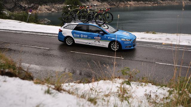 19-й этап «Тур деФранс» небыл завершен из-за непогоды
