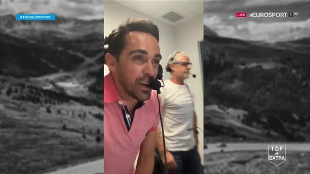 Tour de Francia 2019: Contador y Ares, eufóricos en cabina con la exhibición de Bernal