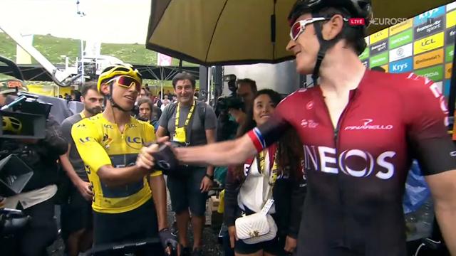Thomas congratulates Bernal on his Tour de France triumph