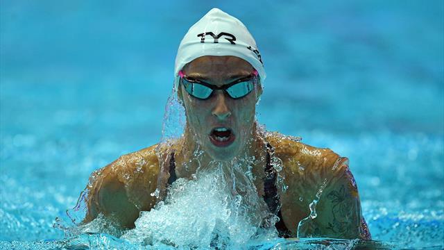 Lesaffre en finale du 400 m 4 nages