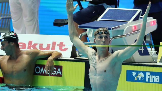 Wellbrock sacré sur 1500 m, Aubry rate la médaille mais décroche le record de France