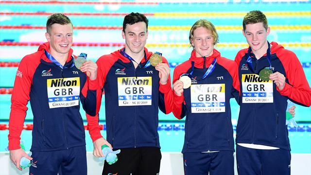 Peaty wins third gold as GB claim 4x100m medley relay title