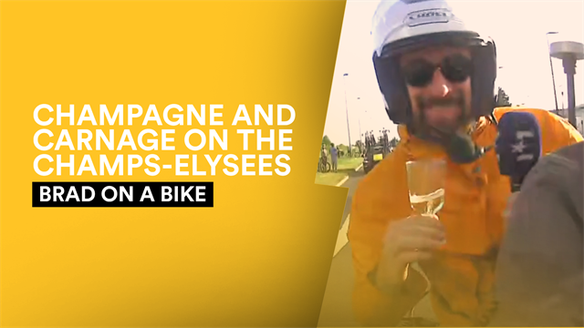 Brad on a Bike: Champagne moments as Wiggins rides the final stage