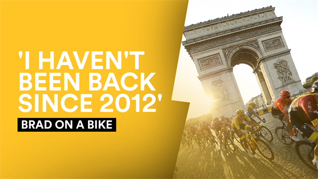 Brad on a Bike - Wiggins' Champs-Elysees memories