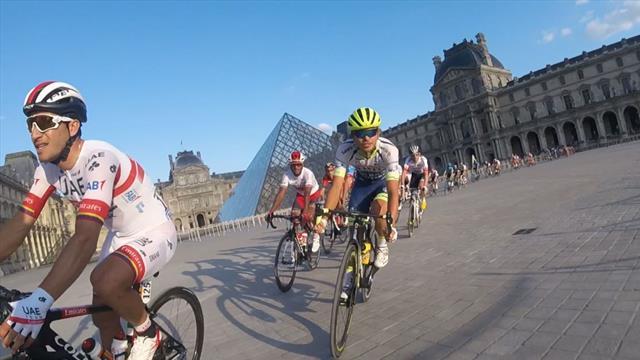 El radar de tráfico que multó a lo loco en París al pelotón del Tour de Francia