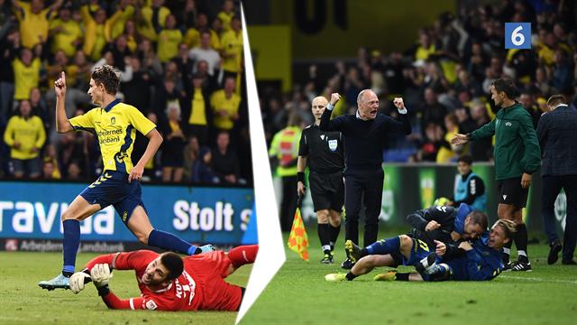 Highlights: Magisk EL-aften på Brøndby Stadion hvor Jesper Lindstrøm scorer to i forlænget spilletid