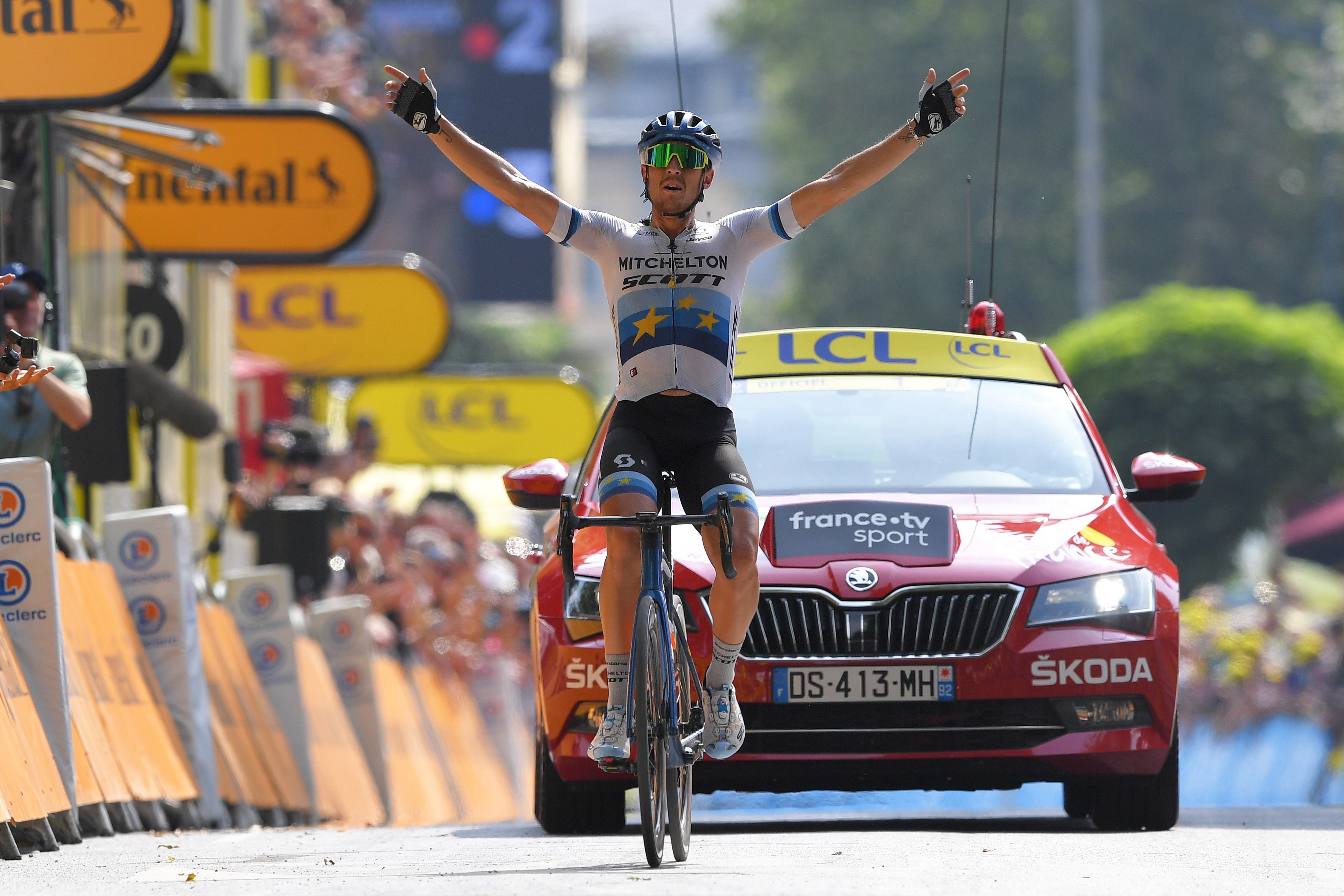 Matteo Trentin vainqueur de l'étape 17 du Tour de France 2019, à Gap