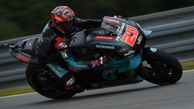 Fabio Quartararo fulmine davanti a Marquez e Vinales, Rossi 7°