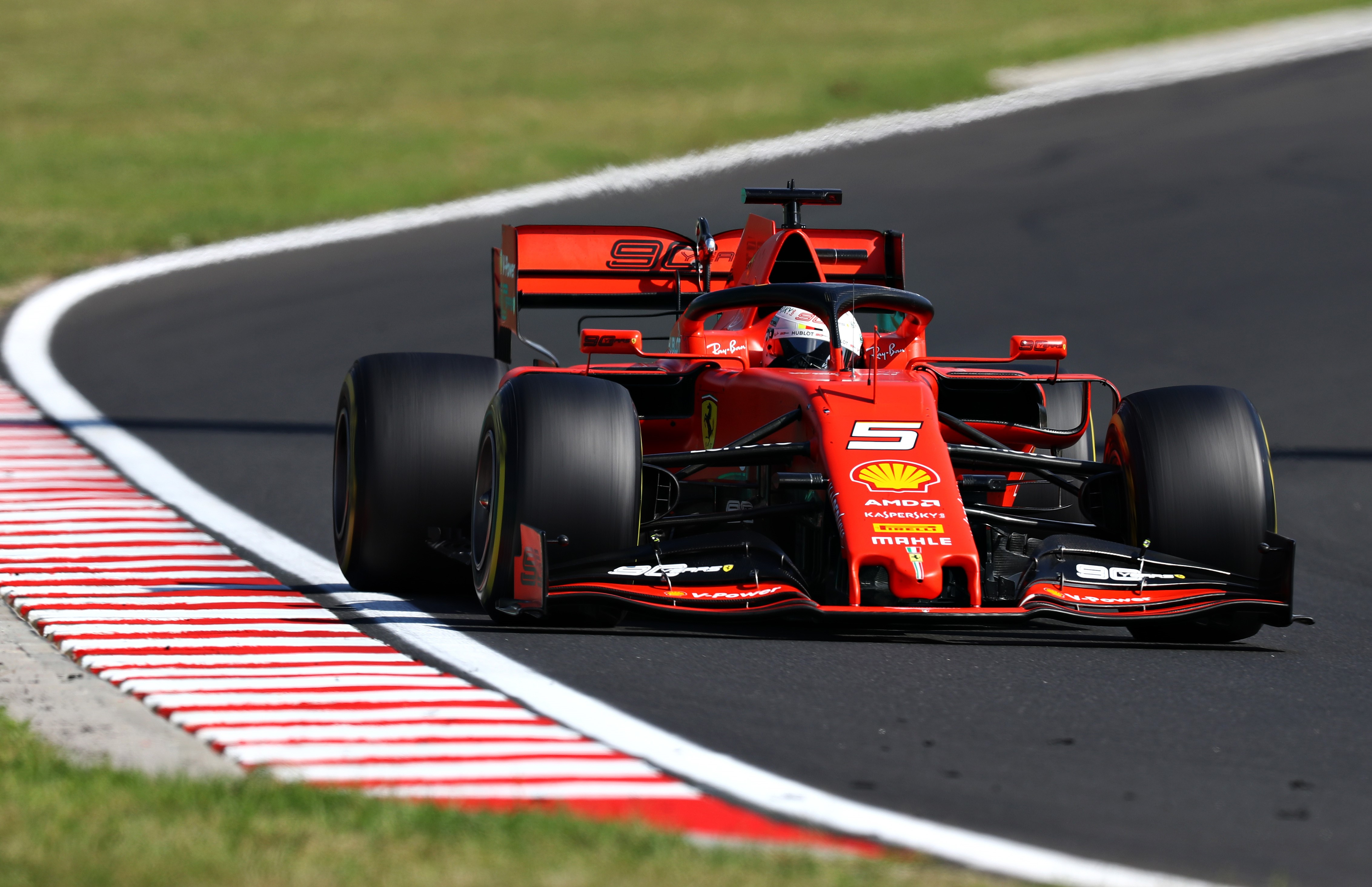 Sebastian Vettel (Ferrari) lors du Grand Prix de Hongrie 2019