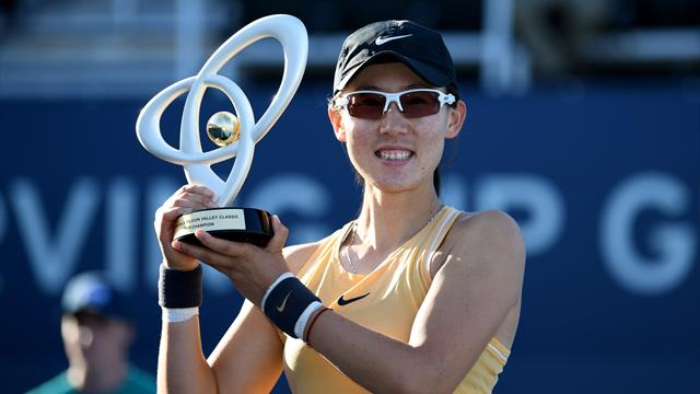 Zheng wins first WTA title at Silicon Valley Classic