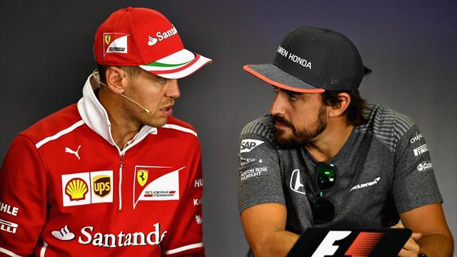 """Vettel su Alonso: """"Non mi interessa il suo ritorno, non gli sono mai stato simpatico"""""""