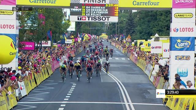 Tour de Pologne: Luka Mezgec surprend les favoris au sprint