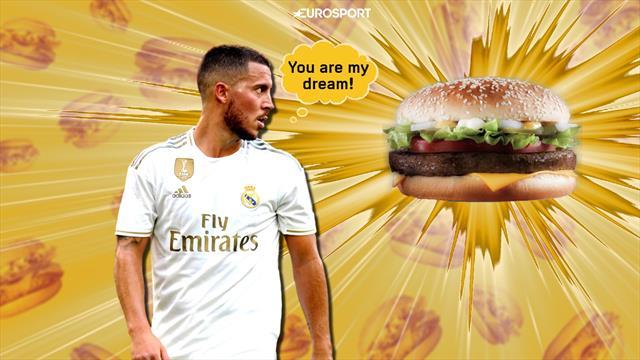 «Бургер сделал меня легендой». В чем Азар точно слабее Роналду и почему фанаты «Реала» на нервах