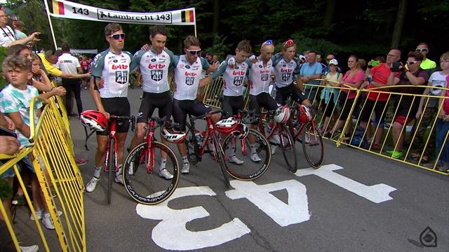 'Gone but never forgotten' - Emotional tribute to Bjorg Lambrecht on Stage 4 finish line