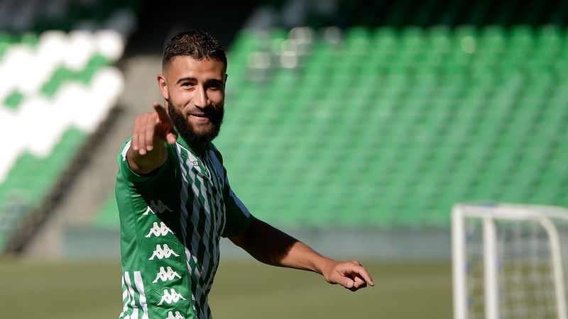 Nabil Fekir lors de sa présentation avec le Betis