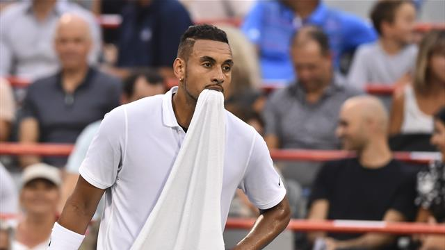 VIDEO - Kyrgios loses it with umpire... over 'incorrect' towel