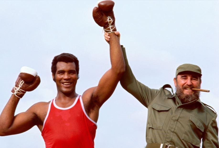 Teofilo Stevenson ve Fidel Castro