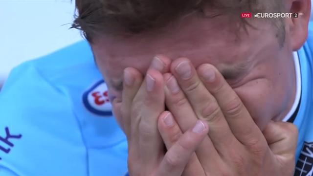 Campeonatos de Europa, las lágrimas de Evenepoel al ser Campeón de Europa: como el niño que es