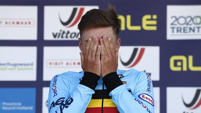 Remco Evenepoel seals emotional individual time trial win at European Championships