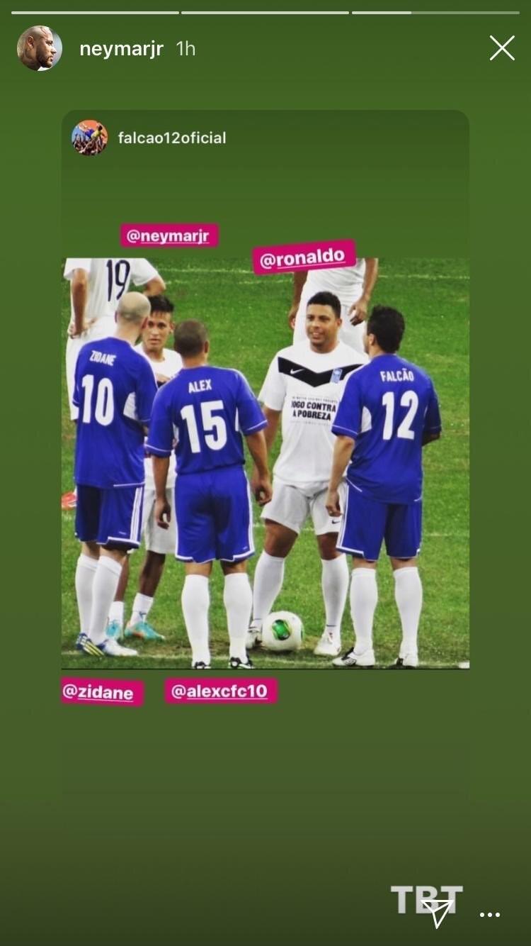 Neymar Zidane Instagram