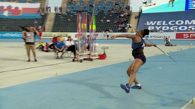 Women's Javelin throw final at European Athletics