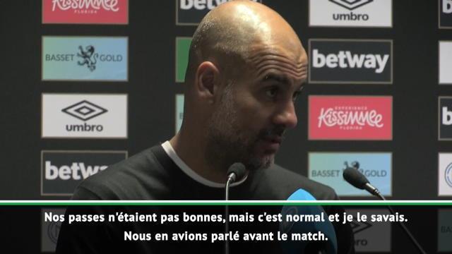 """Guardiola : """"Je suis satisfait du résultat, pas de la manière"""""""