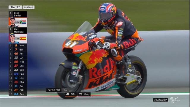 MotoGP Oostenrijk| Brad Binder wint de Moto2 Race