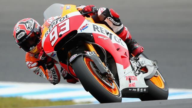 Marquez batte Rossi ed è in pole! Terzo Miller, poi Quartararo. Dovizioso 7°