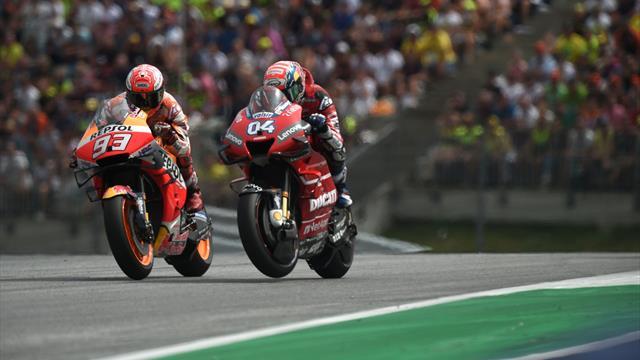 Dovizioso gewinnt packendes Duell gegen Márquez
