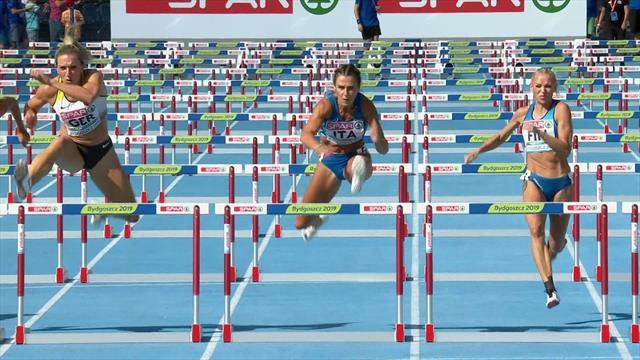Luminosa Bogliolo edges to 110m hurdles win