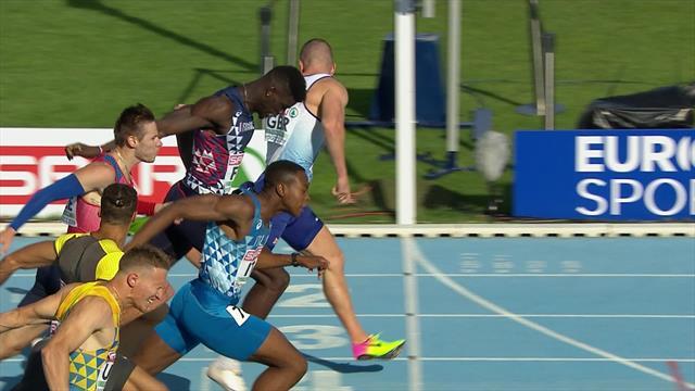 Richard Kilty powers through injury to win 200m