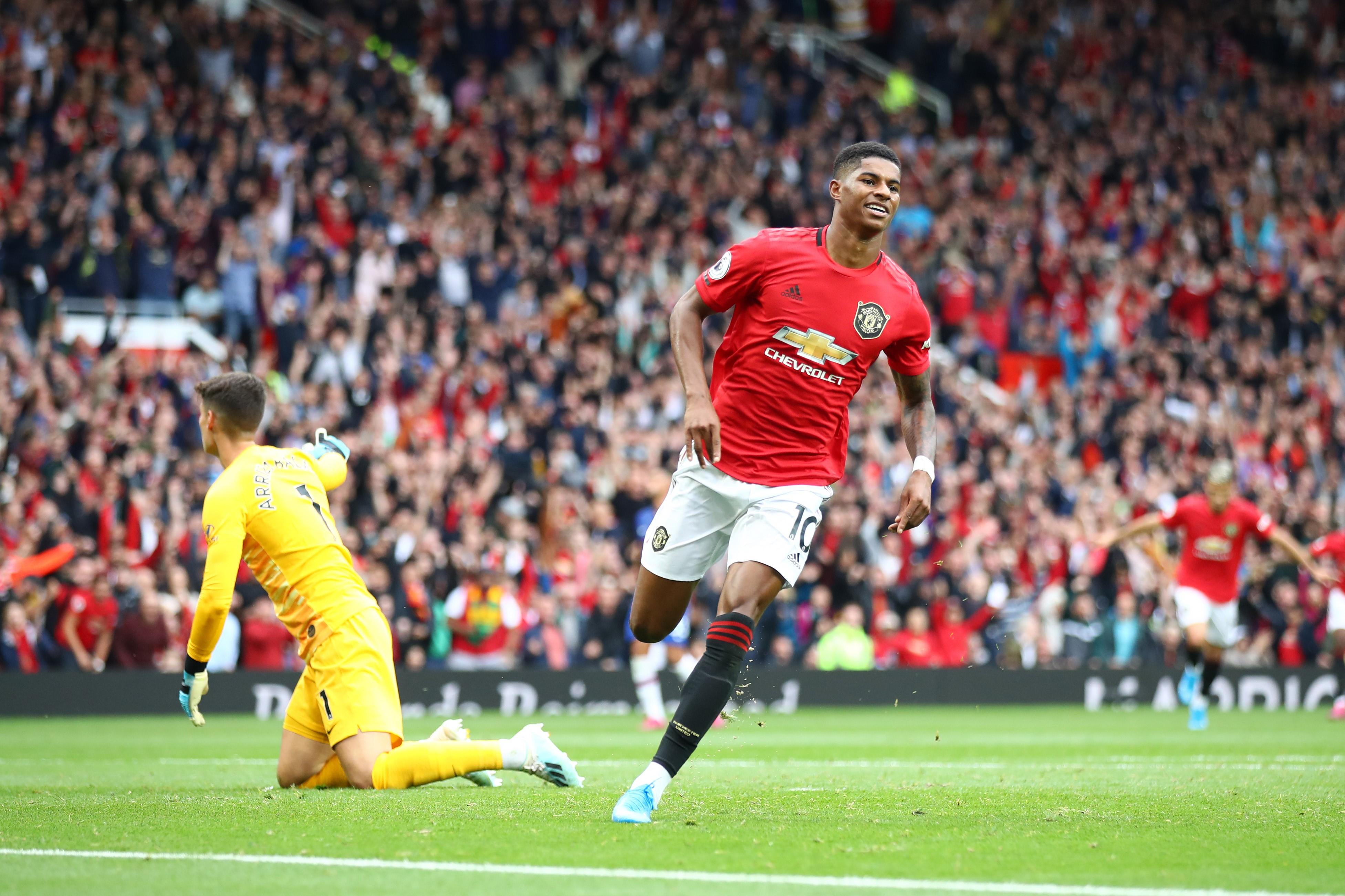 Marcus Rashford lors de Manchester United-Chelsea / Premier League