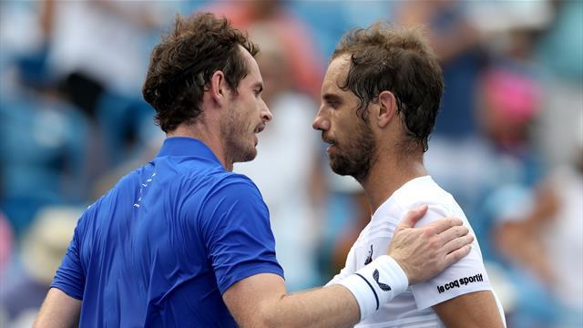 Murray a rejoué en simple, mais Gasquet lui a gâché son retour