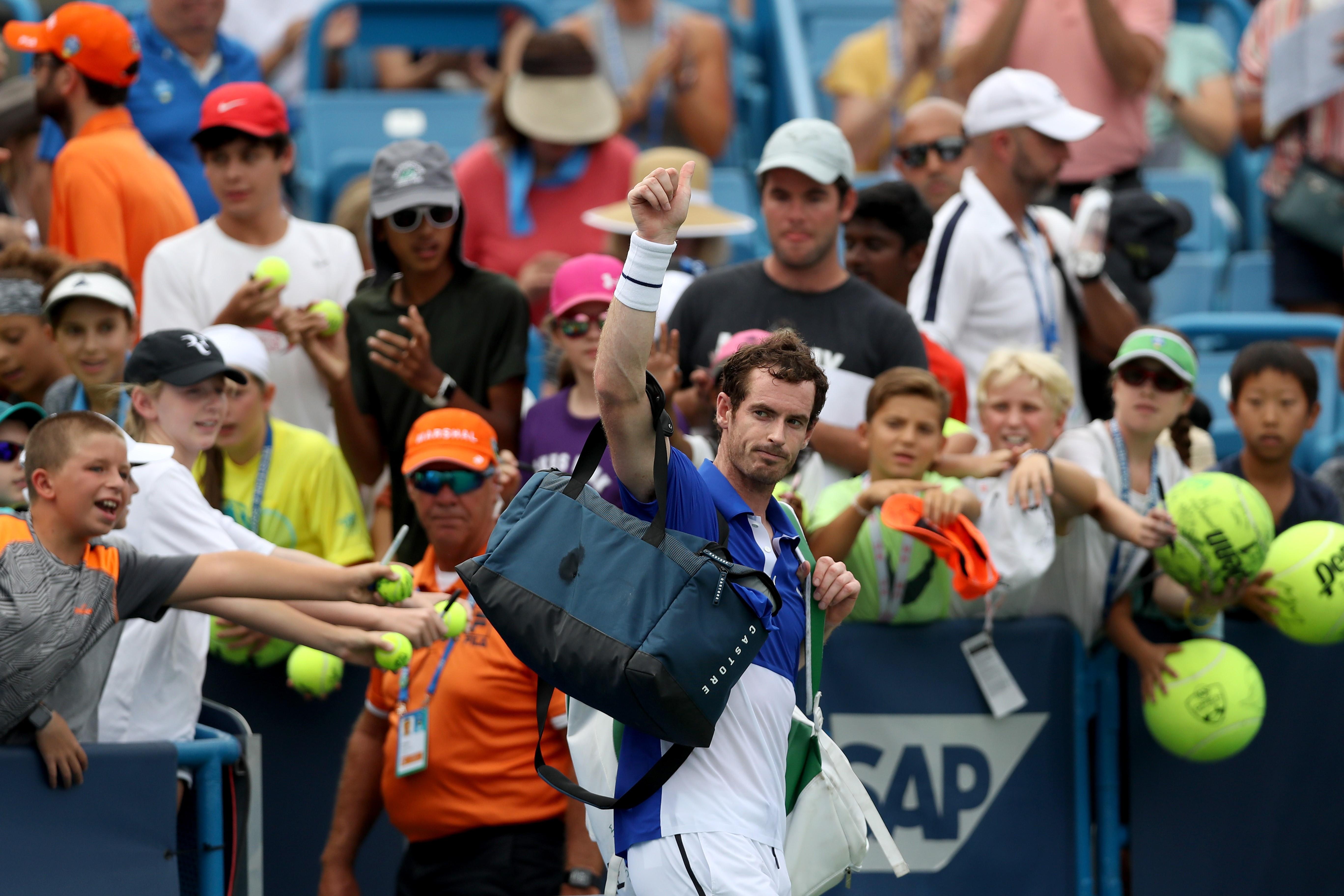 Andy Murray lors du Masters 1000 de Montréal 2019