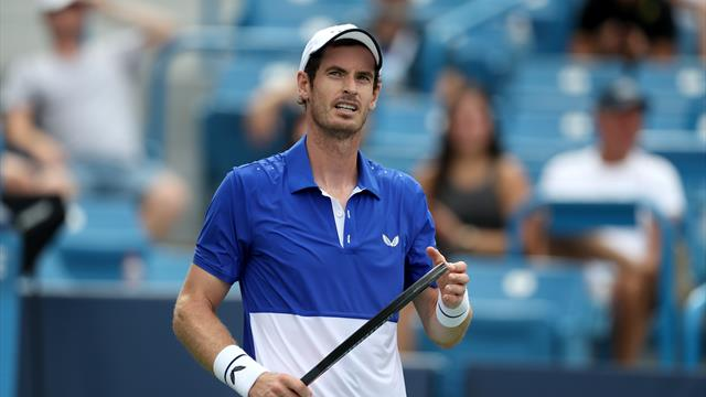 Andy Murray reacts to playing against brother Jamie Murray in Cincinnati
