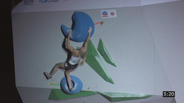 Climbing: Janja Garnbret wins women's final