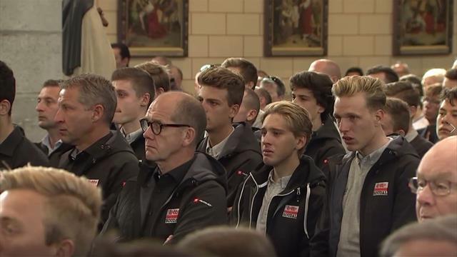 Bjorn Lambrecht: centinaia di persone al funerale dello sfortunato ciclista belga