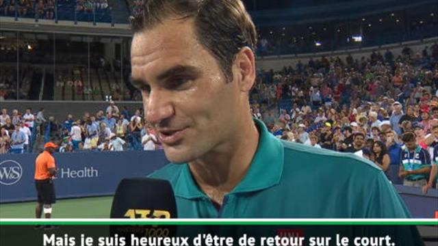 """Federer : """"Heureux d'être de retour sur un court"""""""