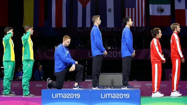 Gli atleti USA si ribellano a Trump: inchino di protesta del fiorettista ai Giochi Panamericani