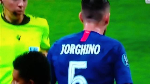 Джорджиньо отыграл в Суперкубке в футболке с опечаткой в имени